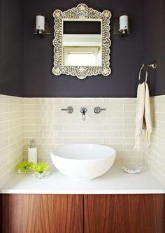 specchio per bagno con cornice