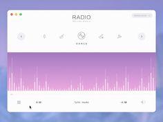 Web radio player concept ramotion