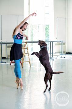 "PNB soloist Laura Tisserand with ""Bonnie"" Ballet School, Ballet Class, Pacific Northwest Ballet, Ballet Art, Ballet Beautiful, Cute Dogs And Puppies, Dog Show, Losing A Pet, Photo Effects"