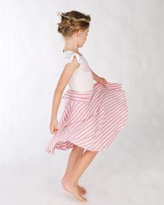 Bamboo full circle twirl skirt, and matching frill top Doodlebug Summer 2014 www.ilovedoodlebug.com.au