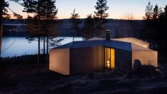 Image 20 of 30 from gallery of Cabin Norderhov / Atelier Oslo. Courtesy of Atelier Oslo Nature Architecture, Architecture Design, Cabinet D Architecture, Residential Architecture, Scandinavian Architecture, Oslo, Cabin Design, House Design, Timber Cabin