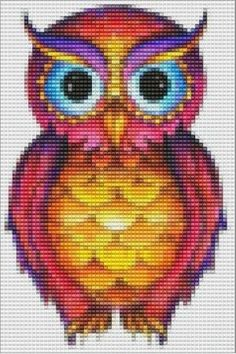 Absolutely Fabulous Owl Pattern - LARGE - for Square Stitch of Loom Beadwork #heartbeadwork #loombeading by alissa