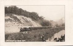 REAL PHOTO POST CARD - PASSENGER TRAIN NEAR MUIR, MICHIGAN//#Michigan History, Legends and Folklore