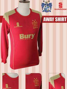 Bury FC Surridge Sports Shirts Away 2013/14 Bury Fc, Championship League, Sports Shirts, Sweatshirts, Sweaters, Tops, Design, Fashion, Moda