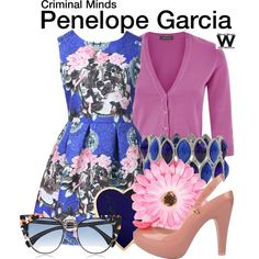 Inspired by Kirsten Vangsness as Penelope Garcia on Criminal Minds