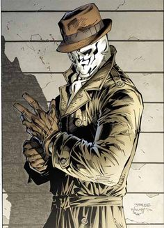 "Rorschach from ""Watchmen"". #rorschach #watchmen #comic"