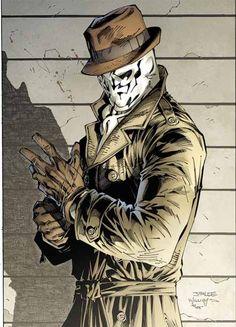 "Rorschach from ""Watchmen"". #rorschach #watchmen #comic"