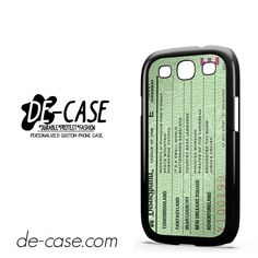Green Disneyland Ticket DEAL-4862 Samsung Phonecase Cover For Samsung Galaxy S3 / S3 Mini