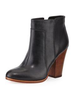 Rocker Casual Leather Bootie, Black by Pour la Victoire at Neiman Marcus.