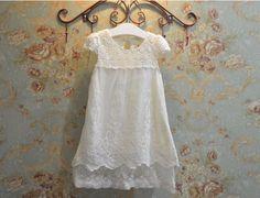 Vintage Ivory Lace Flower Girl Dress