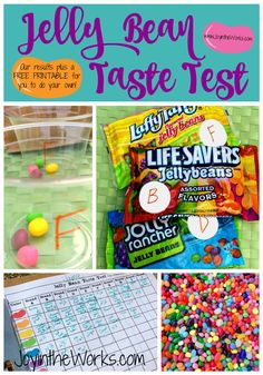 We had so much fun as a family doing this jelly bean taste test! Check out our favorite out of TEN different varieties! Oh and get a free printable for your family to conduct your own!