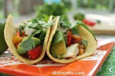 Grilled Chicken and Avocado Tacos with Cilantro Crema