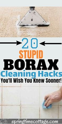 20 Borax Cleaning Hacks you'll wish you knew sooner - Trend Natural Cleaning Recipes 2019 Borax Cleaning, Diy Home Cleaning, Household Cleaning Tips, Homemade Cleaning Products, Deep Cleaning Tips, Cleaning Recipes, House Cleaning Tips, Natural Cleaning Products, Spring Cleaning