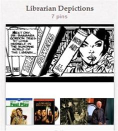 """Librarian Depictions: Librarians and libraries in stage, screen, page, action figure, or reference. Mostly fictional, but not exclusively. See also """"Celebrity Readers"""" for shots of actors in libraries [http://pinterest.com/suziholler/celebrity-readers/]."""