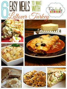 This post has some great ideas for ways to use that left over Thanksgiving day Turkey!