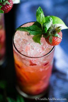 Strawberry Mojito   Vanilla And Bean