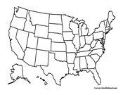 Free USA printable maps