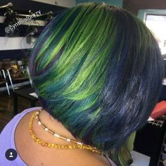 Pretty green hues via @cynthialumzy - http://community.blackhairinformation.com/hairstyle-gallery/short-haircuts/pretty-green-hues-via-cynthialumzy/