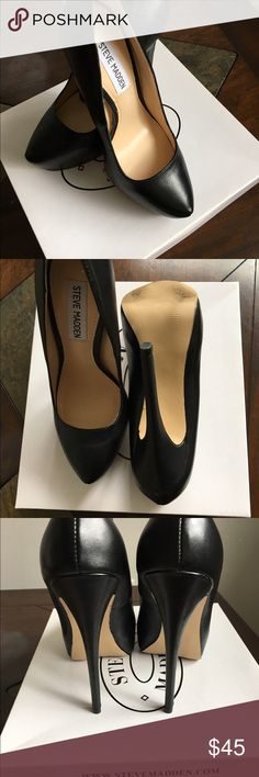 Steve Madden Yasmin Black Elegant High Heels