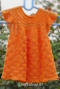 Free Crochet Pattern for a Little Girls' Dress