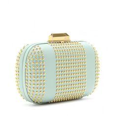 Emilio Pucci Studded Leather Box Clutch ($1,158) via Polyvore