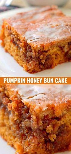 Mini Desserts, Fall Desserts, Just Desserts, Delicious Desserts, Dessert Recipes, Thanksgiving Desserts, Honey Bun Cake, Honey Buns, Oreo Dessert