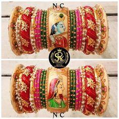 Wedding Saree Blouse Designs, Saree Wedding, Bridal Bangles, Bridal Jewelry, Jewelry Design Earrings, Jewellery, Indian Makeup Artist, Bridal Chuda, Ankle Jewelry