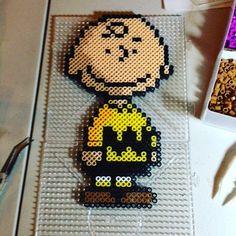 Charlie Brown perler beads by krakens_pixels