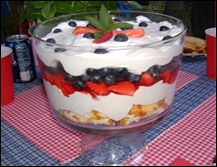Red, White & Blue Trifle Hungry Girl Style