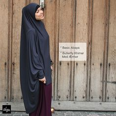 Basic Abaya & Butterfly Khimar With Sleeves