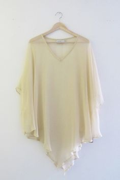 Bohemian Nude Chiffon Kaftan Tunic Dress