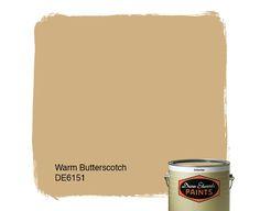 Dunn-Edwards Paints tan paint color: Warm Butterscotch DE6151 | Click for a free color sample #DunnEdwards