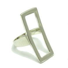 R000448 Long Stylish  STERLING SILVER Ring Solid 925