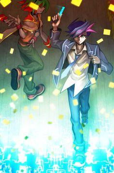Yu Gi Oh! VRAINS and Arc V  - Yuusaku and Yuya