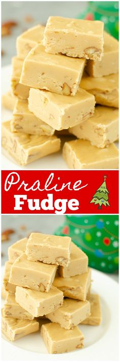 Bourbon Praline Fudge - quick and easy fudge that tastes just like homemade pralines! With just a hint of bourbon and a crunch of pecans. Your holiday cookie tins need this fudge! Cheesecake Oreo, Strawberry Swirl Cheesecake, Strawberry Desserts, Cheesecake Recipes, Cheesecake Strawberries, Strawberry Sauce, Fudge Recipes, Candy Recipes, Best Dessert Recipes