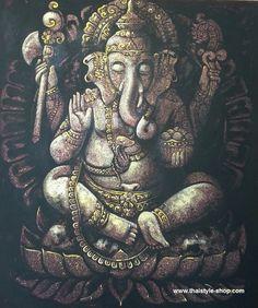 Painting Ganesha : thaistyle-shop.com