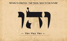 "1 VEHU: VAV HEY VAV: Return To Creation - Time Travel ""Back To The Future"" Scan from Right to Left"