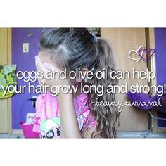 Have long hair Grow Long Hair, Grow Hair, Beauty Hacks, Beauty Tips, Olive Oil, Your Hair, Hilarious, Long Hair Styles, Face