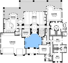 Interior Courtyard House Plans. Southwest House Plans & Home Designs