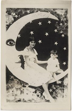 Young Mother and Son on a Paper Moon by Photo_History, via Flickr