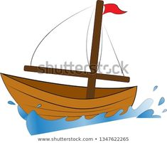 Boat Cartoon, Cartoon Ships, Sailboat, Illustration, Ss, Cartoons, Objects, Vectors, Artists