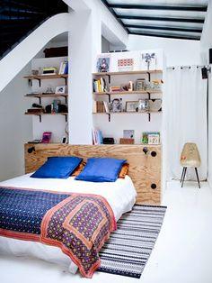 Anne-Fleur  Thierry's bedroom, ELLE.