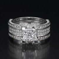 swarovski crystal wedding ring