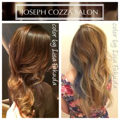 Balayage brunette blonde highlights glaze olaplex for 77 maiden lane salon