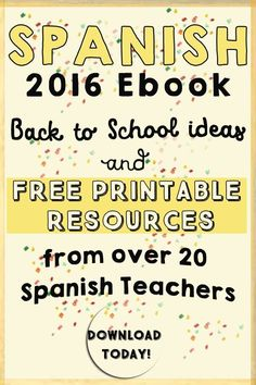 Freebies and tips #ebook for Spanish Teachers #backtoschool