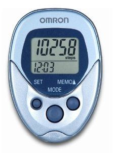 Omron Hj112 Digital Pocket Pedometer with Unique Dual Sensor Technology Means the Pedometer Can Be Carried in Your Pocket or Bag * Continue to the product at the image link.(This is an Amazon affiliate link)