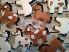 Horse / pony sugar cookies by ML Sweets.