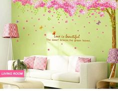 "WallStickersDecal PVC Wandtattoos Romantisch Riesige Sakura Blume Cherry Blossom Kirschblüte Tree Wall Sticker Decal 90 ""* 90"" WallStickersDecal® http://www.amazon.de/dp/B00C4QQG5G/ref=cm_sw_r_pi_dp_guPAwb0J7FRQ1"