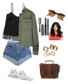 """Sin título #266"" by rosasantandergonzalez on Polyvore featuring moda, Abercrombie & Fitch, Converse, MANGO, Topshop, Apt. 9, Ray-Ban y Bobbi Brown Cosmetics"