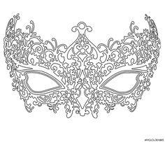 coloriage masque vénitien femme grande image